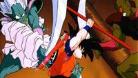 Gokū combat Ginger et Nikky simultanément