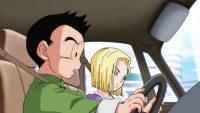 Kuririn et sa famille, dans les bouchons