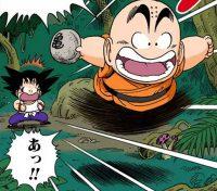 Kuririn vole la pierre récupérée par Gokū
