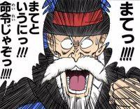 Kamé Sennin tente de retenir Gokū après la mort de Kuririn