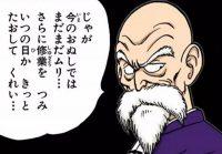Kamé Sennin décide de se sacrifier en combattant seul Piccolo Daimaō
