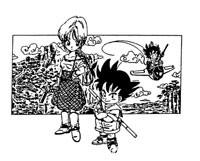 2ème ébauche : Pinchi et Gokū