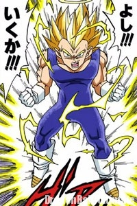 Vegeta Super Saiyan 2 contre Boo