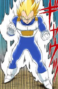 Vegeta se transforme en Super Saiyan
