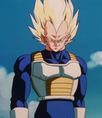 Vegeta Super Saiyan, dans l'anime