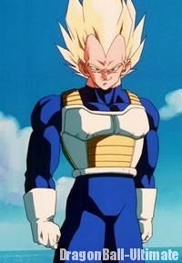 Vegeta Super Saiyan, dans l'anime
