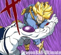 Trunks du futur coupe Freeza en deux