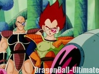 Nappa et Vegeta discutent des Super Saiyans, dans l'anime