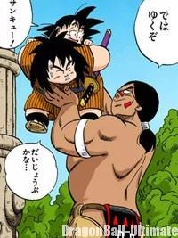 Bora vient en aide à Gokū et Yajirobé