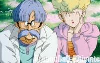 La mère de Bulma apprécie le karaoké de Kuririn dans le 8ème film DBZ