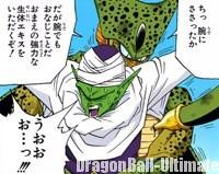Cell tente d'absorber la vie de Piccolo