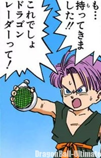 Trunks rapporte le Dragon Radar à Gokū