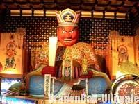 Une statue bouddhique du roi EnmaUne statue bouddhique du roi Enma