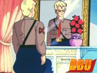 Le général Blue possède un pot rempli de roses