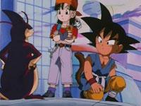 Gokū et Pan face à Ū Shinron