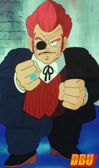 Le chef red dans la série TV Dragon Ball