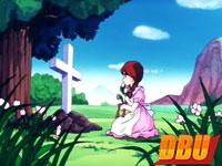 Une jeune fille se recueille sur sa tombe (épisode 126)