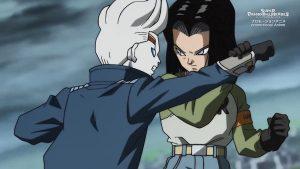 N°17 affronte Oren dans l'épisode 12 de l'anime promotionnel SDBH