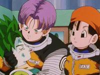 Pan et Trunks secourent un jeune garçon