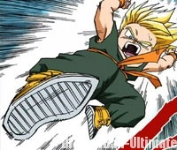 Trunks attaque Boo, en Super Saiyan