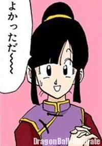 Chichi, heureuse du retour de Gokū