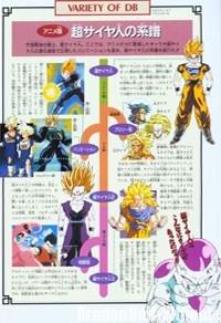 Les différents types de Super Saiyans