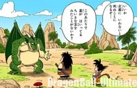 Gokū et Yajirobé face à Cymbal