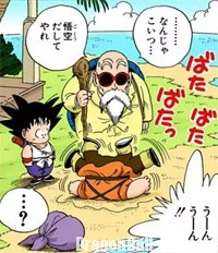 Son Gokū rencontre Kuririn à Kamé House