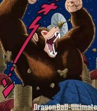 Gokū transformé en singe géant