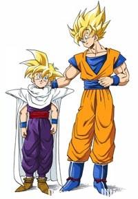 Gokū et Gohan Super Saiyans Full Power