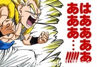 Gotenks se transforme en Super Saiyan 3