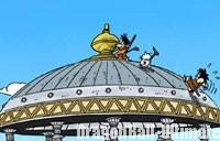 Le toit de la tour Karin, dans le manga