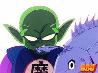 Piccolo (Ma Junior) mangeant un poisson dans l'anime