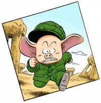 Oolong, dans le manga Dragon Ball