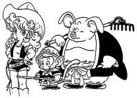 Premières ébauches de Dragon Ball par Akira Toriyama (Oolong, à droite)