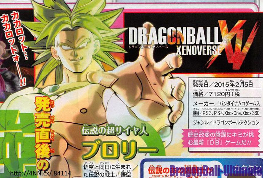 Broly confirmé dans Dragon Ball : Xenoverse