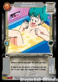"La carte ""Bulma's Relaxation"""