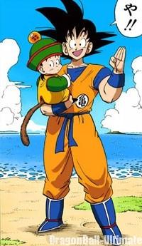 Gokū conserve le même Dōgi lesté de couleur orange dans le manga