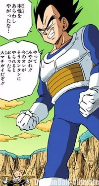 L'armure de Vegeta contre Freeza