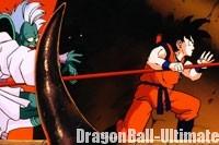 Gokū combat avec son Nyoibō contre les hommes de main de Garlic Jr.