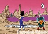 La planète sur laquelle Dābura affronte Son Gohan, dans le manga