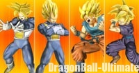 Les Super Saiyans dans Dragon Ball : Zenkai Battle Royale