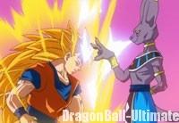 Gokū Super Saiyan 3 battu par Beerus