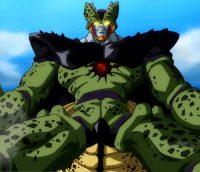 Cell-X fusionné avec une Dragon Ball sombre