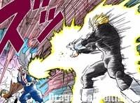 Gohan tente de détruire le cocon de Buu