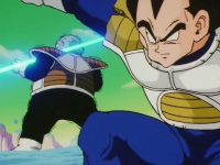 Vegeta, tuant Ghourd dans l'anime