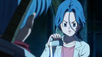 Bulma, remettant le carburant à Trunks