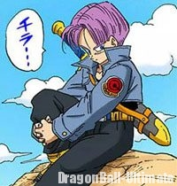 Trunks du futur observe son père, Vegeta