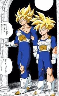 Gokū et Gohan en Super Saiyan Full Power