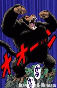 Gohan se transforme en singe géant